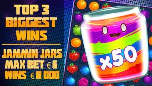 TOP 3 BIGGEST WINS IN SLOTS JAMMIN JARS! MAXBET €6 WINS  €11,000!