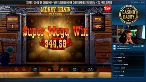 HUGE WIN! Money Train BIG WIN! Online Slot from CasinoDaddy Live Stream