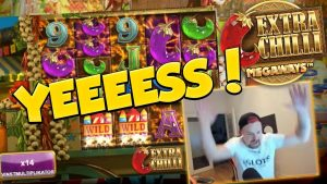 BIG WIN!!! Extra Chilli Huge win – RIP EARS WARNING – Casino Games – free spins (Online slots)