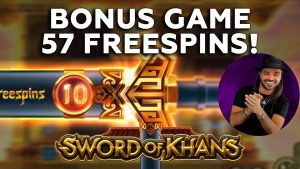 Roshtein Sword of Khans 57 darmowych obrotów - 5 najlepszych kasyn online, duża wygrana w automatach