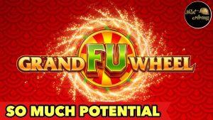 ⭐️GRAND FU WHEEL⭐️I FINALLY GOT A HUGE WIN | BUFFALO GOLD 4 COINS BONUS SLOT MACHINE