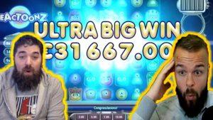 Tiešsaistes kazino vini # 11 klases liellopu gaļa REACTOONZ ULTRA BIG WIN