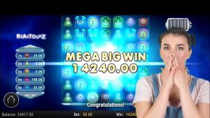 REACTOONZ MEGA BIG WIN | Tragamonedas de casino 2020