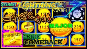 HIGH LIMIT Lightning Cash Sahara Gold HUGE MAJOR JACKPOT HANDPAY ⚡️HIGH STAKES EPIC COMEBACK HANDPAY