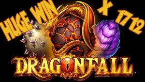 Velké vítězství na slotu Dragon Fall x1712. Obrovské vítězství v online kasinu.