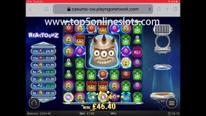 BIG WIN on (( REACTOONZ SLOT !! )) ONLINE CASINO GAME