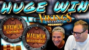 Max Spins and Max Multiplier on Vikings Unleashed!