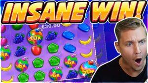 INSANE WIN! Sweet Bonanza Big win – from 5 oct 2019 – Casino Games from Casinodaddy Live Stream