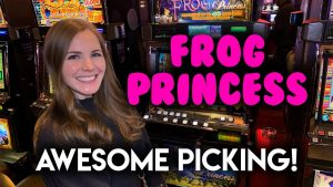 Awesome Picking! BIG BONUS WIN! Frog Princess Slot Machine!!