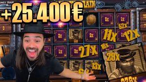 ROSHTEIN Mega win 25.000€  on Money Train slot – Top 5 Biggest Wins of week