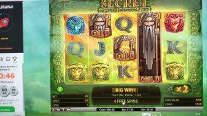 Secret of the stone £1.25 stake Big win CASUMO SLOTS CASINO