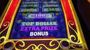 Big Win! Top Dollar slot machine bonus rounds at Mohegan Sun casino