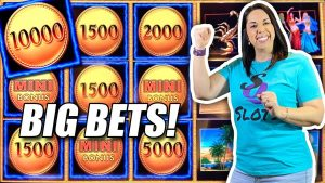 BIG BETS ‼️  BIG WINS ‼️ BIG FUN ‼️ SLOT QUEEN LOVES SAHARA GOLD 💜