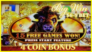 BUFFALO GOLD GIVES ME A 4 COIN BIG WIN!🐃ANGEL OF THE WINDS 👼