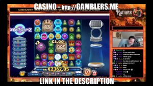 Mega Big win 2393€ on Reactoonz   Online Casino Stream Live Canada4