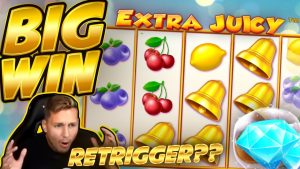 BIG WIN!!! Extra Juicy BIG WIN – Online slot played on CasinoDaddys stream