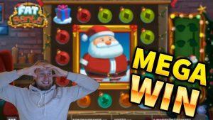 MEGA WIN!!! Fat Santa Big WIN!! Casino Games from MrGambleSlot Live Stream