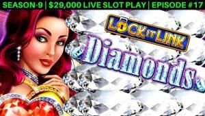 Lock It Link Diamonds Slot Machine Jogo ao vivo e bônus de aposta de US $ 10 | Temporada 9 | Imersão # 17