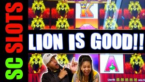Who Says LION Is Bad??? 100 LIONS Slot Machine BIG WIN Casino Session