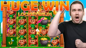 HUGE WIN WITH LOCKED WILDS ON LEPRECHAUN GOES WILD (Play'n GO)