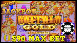 ⭐️HIGH LIMIT Buffalo Gold STOR JACKPOT HANDPAY PÅ $ 90 MAX BET BONUS RUNDT ⭐️DRAGON LINK PANDA MAGIC⭐️
