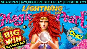 High Limit Lighting Link Slot Machine $25 Bet Bonus & BIG WIN | Season 9 | Episode #21