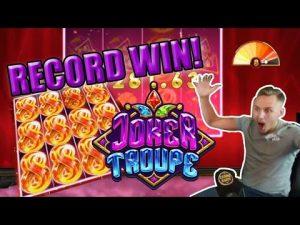 INSPELA VINN! Joker Troupe Stor vinst - ENORM VINN på Casinospelautomaten Casinodaddy LIVE STREAM