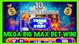 MEGA BIG WIN!!! *MAX BET* MYSTICAL UNICORN WMS SLOT MACHINE BONUS!