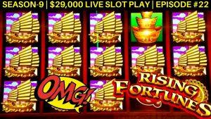 Rising Fortunes ogroman dobitak na automatu | Buffalo Gold Slot 14 Gold Head & Big Win | SE 9 | EP # 22