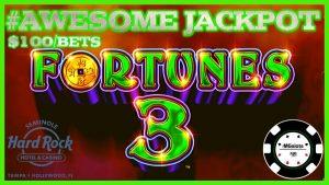 ⭐️HIGH LIMIT Fortunes 3 – Echo Fortunes MASSIVE HANDPAY JACKPOT ⭐️$100 SPIN BONUS Slot Machine ⭐️