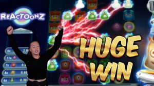 HUGE WIN!!! Reactoonz – Casino Games from MrGambleSlot Live Stream