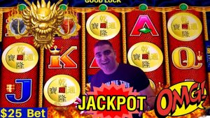 HIGH LIMIT 5 Dragons Slot Machine HANDPAY JACKPOT – $25 Bet | Rare 5 Bonus Symbols
