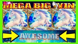 MEGA BIG WIN!!! I LOVE WMS!!! Mystical Unicorn Slot Machine Bonus!!!