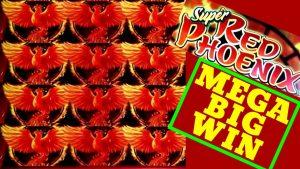 MEGA BIG WIN🔥! SUPER RED PHOENIX Slot Machine Max Bet Bonuses HUGE WIN | RARE WINS |Premiere STREAM