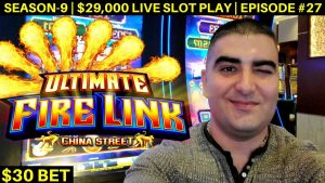 High Limit ULTIMATE FIRE LINK Slot Machine Bonus & Big Win    Season 9   Episode #27