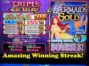 Μεγάλη νίκη! Γοργόνα χρυσός (γύρος μπόνους) από το Fallsview Casino, Niagara Falls, Καναδάς