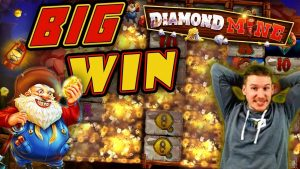 BIG WIN on Diamond Mine Slot – £10 Bet!