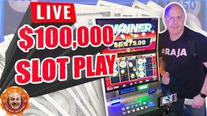 IVE LIVE 100,000،XNUMX MAX BET SLOT PLAY مع The Raja! 🎰