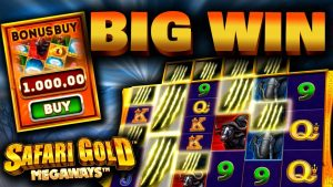 €1000 Bonus purchase on Safari atomic number 79 Megaways (large WIN)