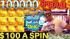 100 $ SPIN na żywo dla 100,000 XNUMX subskrybentów! Potęga bonusu NG SLOT
