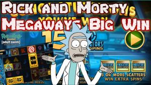 Rick and Morty Megaways Online Slot Big Win From Blueprint Gaming
