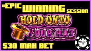 """ICHIGH LIMIT Užrakinkite savo saitą, laikydamiesi savo skrybėlės. EPIKAS LAIMĖJANČIAS SESIJA 30 XNUMX USD """"MAX BET BONUS"""" lošimų automatas"""
