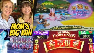 MOM'S BIG WIN TIMBER WOLF-RISING FORTUNES AND MUNCHINLAND