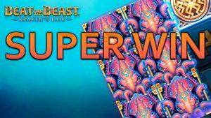 SUPER MEGA BIG WIN ON BEAT THE BEAST KRAKEN'S LAIR (Thunderkick)
