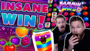4 SCATTER JAMMIN JARS BONUS – SUPER large WIN