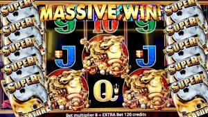 Bônus da máquina de entalhe de 5 sapos Vitória ENORME   Slot Machine Aristocrat WIN maciça! Jogo de slot ao vivo com slot NG