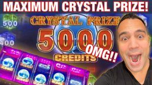 😱 50 $ DREAM CRYSTAL karakteristisk stor VINN BONUS !!!   Jag ❤️ Harrah's Lake Tahoe !! 🏔 💰🎉👑🎰