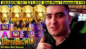 Buffalo atomic number 79 Slot Machine Max Bet Bonus & Over 100x Super large Win | flavor 10 | Episode #19
