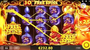 DRAGONS flame ONLINE SLOT EPIC large large large large WIN