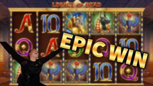 エピック勝利! レガシー・オブ・デッド大WIN !! MrGambleSlot Liveのカジノボーナスゲーム